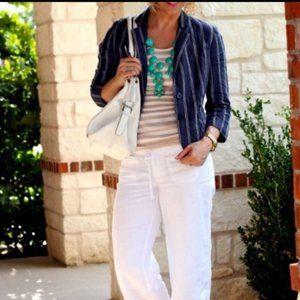 CAbi Nautical Linen Blazer